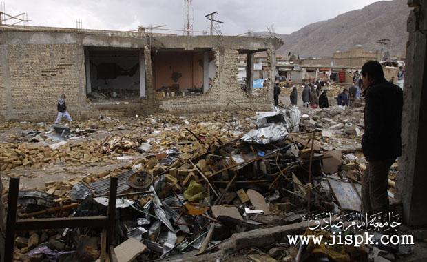 محل انفجار در هزاره تاون کویته پاکستان