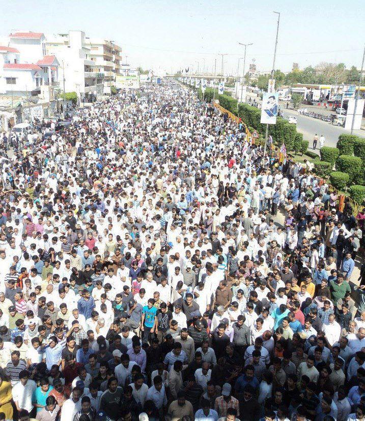 سانحه کراچی تشییع جنازه شهدا